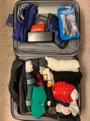 chuẩn bị hành lý đi du lịch